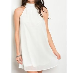 Dresses & Skirts - Halter Neck Sleeveless A-Line Dress